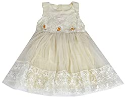 Party Princess Girls' Party Dress (90060-3/4, Beige, 3-4 Years)