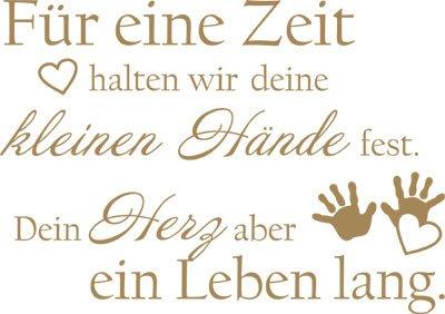 Wandtattoo Aufkleber Tattoo für Kinderzimmer Spruch Für eine Zeit halten wir (81x57cm//081 hellbraun)