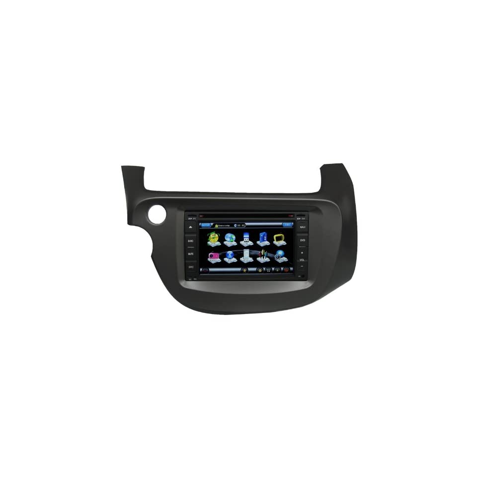 Koolertron For New Honda Fit Indash Car GPS Navigation System AV Receiver with 6.2 Digital HD Touch Screen / PIP RDS Bluetooth iPod Control (Factory Fit,Free Map)