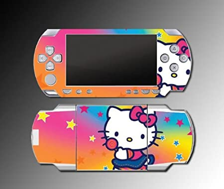 Cute Kitty Princess Hearts Game Vinyl Decal Skin Protector Cover #10 for Sony PSP Playstation 1000 Playstation Portable