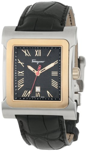 Ferragamo Men's F58LBQ9509 S009 Palagio Square Rose Gold Two Tone Watch