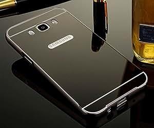 PREGO Black Luxury Metal Bumper case cover Acrylic Mirror Back Cover Case For Samsung Galaxy S4 GT-I9500
