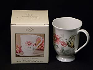 Lenox BUTTERFLY MEADOW SENTIMENT MUG FIND JOY