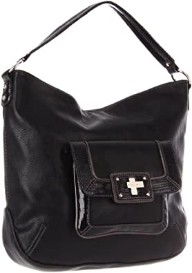 Nine West  Amazon Squared Off Shoulder Bag,Jet Black Combo,One Size