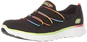 Skechers Women's Loving Life Fashion Sneaker,Black/Multi,6 M US