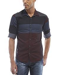 Bandit Blue Casual slim Fit Shirt