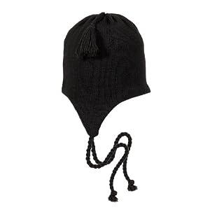 Buy Turtle Fur - Mens Solid Classic Wool Ski Hat Earflap, Black by Turtle Fur