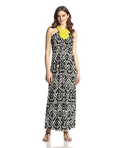 tbagslosangeles Women's Macramé Halter Maxi Dress