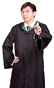 Harry Potter Youth Adult Robe Cloak (Slytherin,S) with one free Harry Potter Letter
