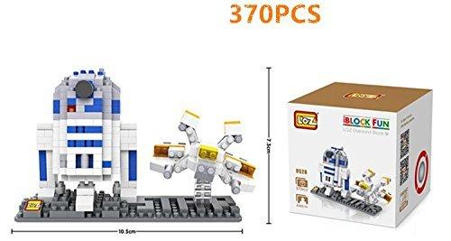 LOZ Star Wars Diamond Nano-Blockmini blocks 2 pc set- R2D2 Fighter with BOX