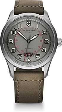 Victorinox Men's 241600 Swiss Army Airboss Analog Swiss Made Automatic Limited Edition Brown Watch