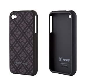 Speck Products Fitted Case for iPhone 4, Black/Gray, Fits AT and T iPhone (IPH4-FTD-A02A027-A) (Discontinued by Manufacturer)