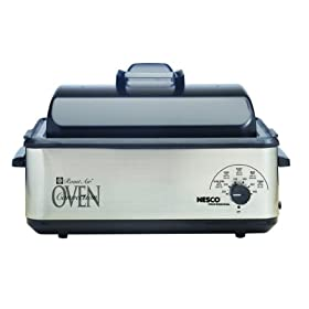 Nesco 4842-25PR Professional 12-Quart Roast-Air Convection Roaster Oven, Porcelain Cookwell