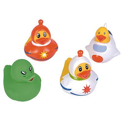 12 Pc - Space Alien Astronaut Rubber Duck Ducky Duckies