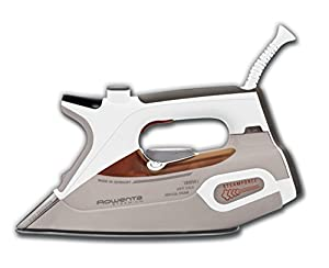 Rowenta DW9080 U1 Steamium Steam Iron with Auto Shutt off and 400-Hole Platinum Soleplate, 1800-Watt, Beige