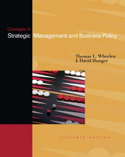 Concepts: Strategic Management & Business Policy (11th Edition)