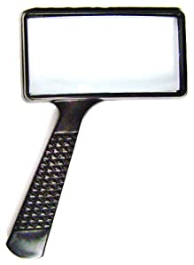 MAGNIFYING GLASS 4x Rectangular Lens Home Office Hobby Tool Coins Stamps New
