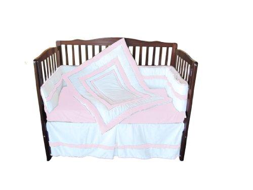 Baby Doll Modern Hotel Style Crib Bedding Set, Pink