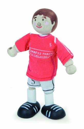 Budkins Soccer Player Footballer #5 Toy Figure, Red