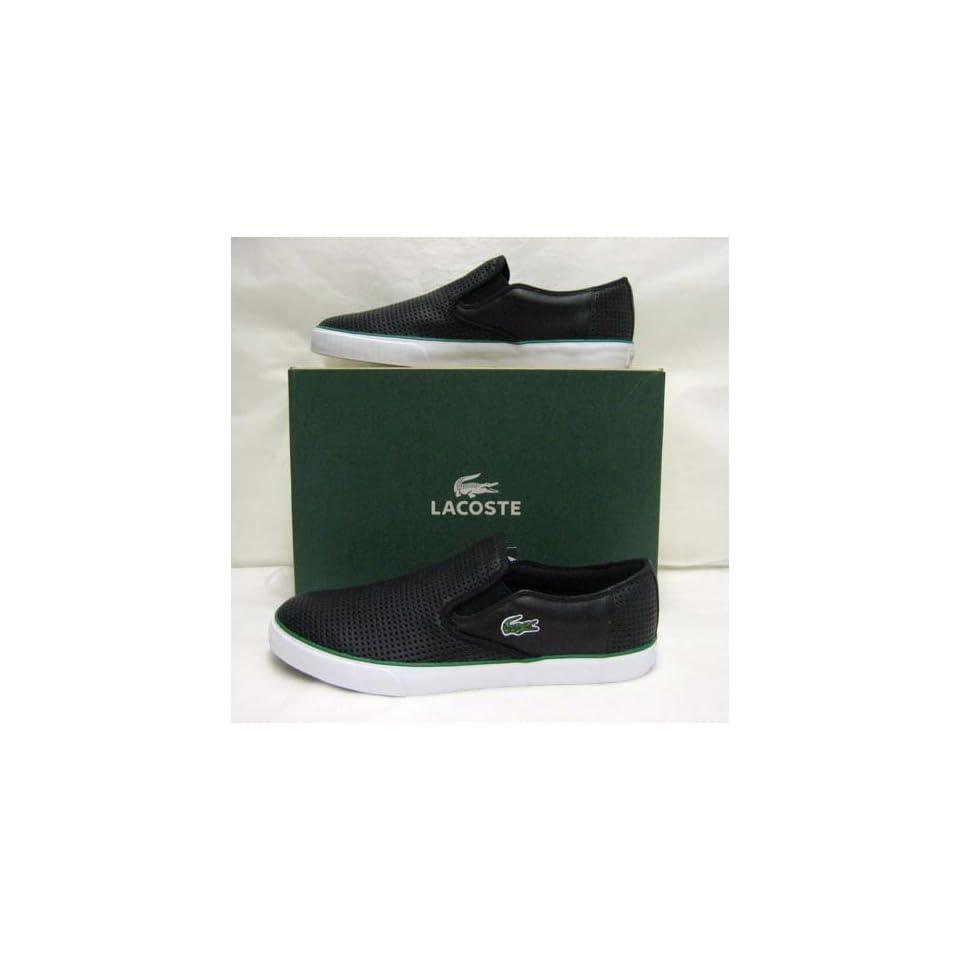 c450e0c4af358 Lacoste Lyndon Slip On 2 Black Leather Mens Shoes 13 on PopScreen