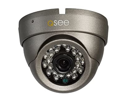 Q-See QM7011D High-Resolution 700TVL Dome Camera with up to 65-Feet, Night Vision (Gray)