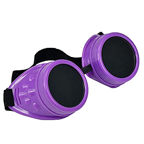 niceEshop (TM)-Cyber Occhiali Vintage Steampunk saldatura Goth Occhiali Cosplay, Purple