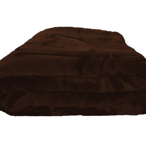 Best Buy! Super Soft Mocha Brown Blanket Queen or Full Size Bed