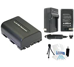 NP-FM50 High-Capacity Replacement Batteries with Rapid Travel Charger for Select Sony Digital Cameras. UltraPro Bundle Includes: Camera Cleaning Kit, Screen Protector, Mini Travel Tripod