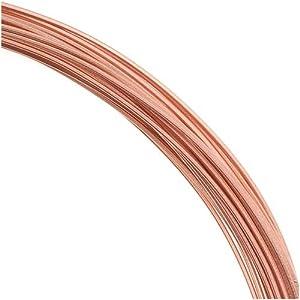 Solid Copper Wire 22 Gauge Square Dead Soft (1 Oz. / 30 Ft. )