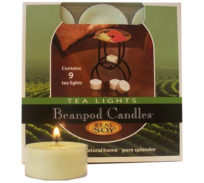 Beanpod Candles Cinnamon Bun, Tea Light, 9-count Box