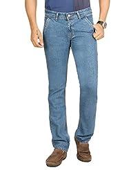 Sloper Stylish Light Blue Regular Fit Mid Rise Denim Lycra Jeans For Men | SL1200OPT1