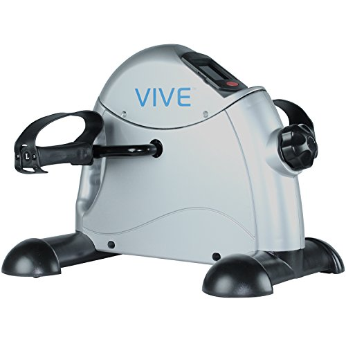 Pedal Exerciser by Vive - Best Portable Medical Exercise Peddler - Low Impact, Small Exercise Bike for Under Your Office Desk - Designed for Either Hand or Foot - 1 Year Guarantee