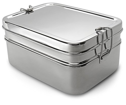 Lifestyle Block Stainless Lunch Box Steel Eco Friendly 3