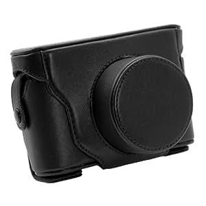 TARION® Étui/Couverture/Housse/Case/Photo sac d'appareil de protection en Cuir PU pour Fujifilm FinePix X10 (Noir)