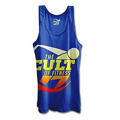 Cult of Fitness Women's Exploded Logo Racer-Back Tank - Lapis Blue