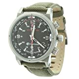 Timex Expedition E Compass Watch LEATHER/CORDURA -