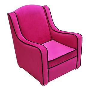 Amazon Com Newco Kids Tween Camille Chair Hot Pink Black