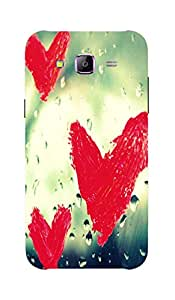 Back Cover for Samsung Galaxy J3 Blur Hearts