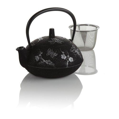 Teavana Black Butterfly Cast Iron Teapot