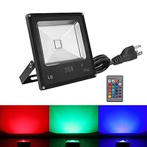 30w rgb led flood lights color changing led security light 16 colors. Black Bedroom Furniture Sets. Home Design Ideas