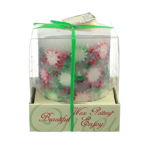 Sparkling Spearmint - Scented Decorative Holiday Candle - 4