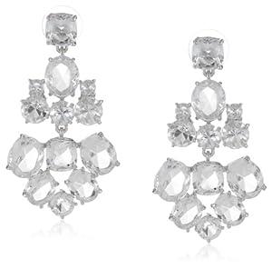 "kate spade new york ""Kate Spade Earrings"" Clear and Silver-Tone Chandelier Earrings, 2"""