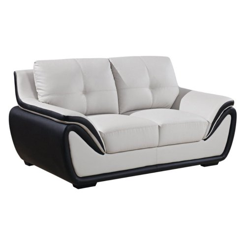 Miraculous Global Furniture Bonded Leather Matching Loveseat Grey Black Andrewgaddart Wooden Chair Designs For Living Room Andrewgaddartcom