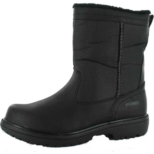 Khombu Men's Belltower Winter Boot (10, Black)