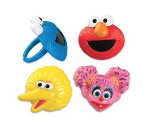 Sesame Street Cupcake Topper Rings - Set of 12