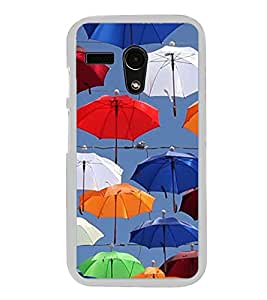 Colourful Umbrellas 2D Hard Polycarbonate Designer Back Case Cover for Motorola Moto G :: Motorola Moto G (1St Gen)