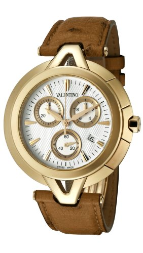 Valentino V-Valentino Chronograph Gold Plated Steel Mens Casual Strap Watch V51LCQ5002-S497