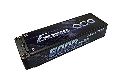 Gens ace LiPo Battery Pack 6000mAh 7.4V 2S 70C HardCase 10#
