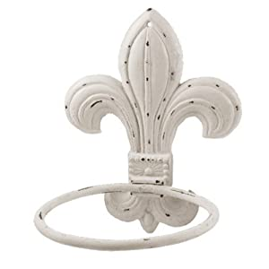 Cast Iron Fleur De Lis Hanging Flower Pot Holder