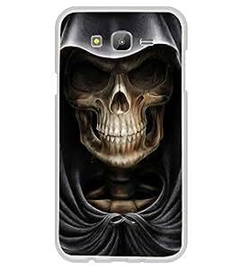 Skull with Hoodie 2D Hard Polycarbonate Designer Back Case Cover for Samsung Galaxy J5 (2015 Old Model) :: Samsung Galaxy J5 Duos :: Samsung Galaxy J5 J500F :: Samsung Galaxy J5 J500FN J500G J500Y J500M